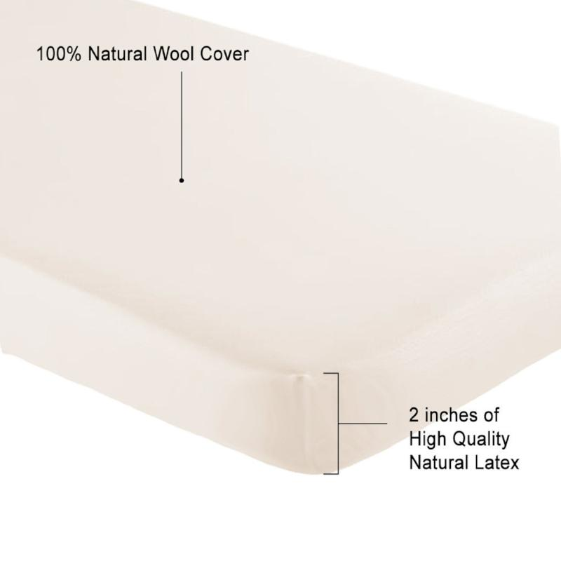 "Natural Latex Topper 2"" - MyOrganicSleep"