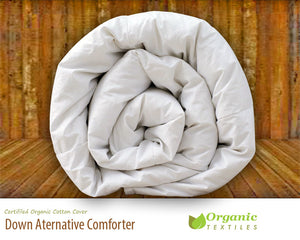 Washed Organic Down Alternative Comforter - MyOrganicSleep