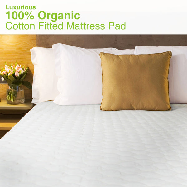 Certified Organic Cotton Mattress Pad-Fitted - MyOrganicSleep