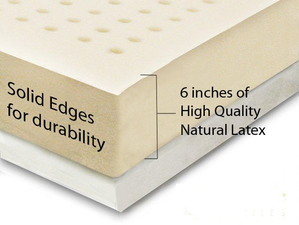 "6"" Natural Latex Mattress Topper"