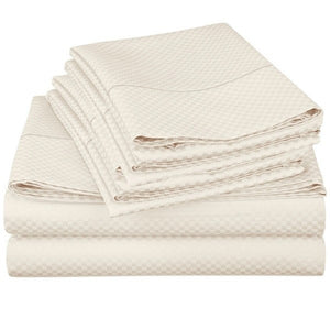 Micro-Check Organic Cotton Sheet Set