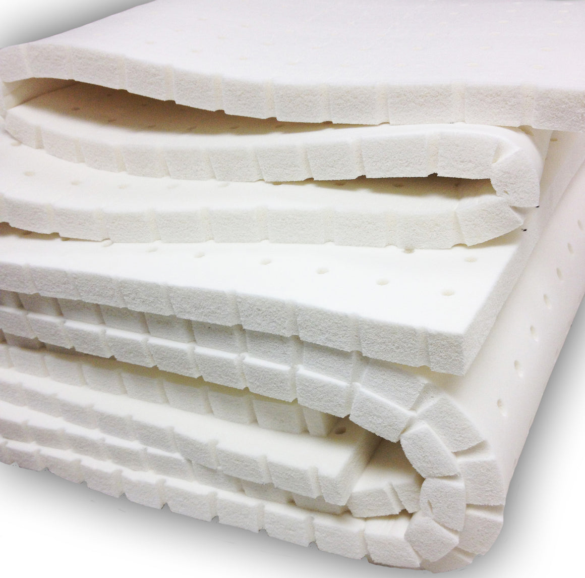 "1"" All Natural Latex Mattress Topper - MyOrganicSleep"