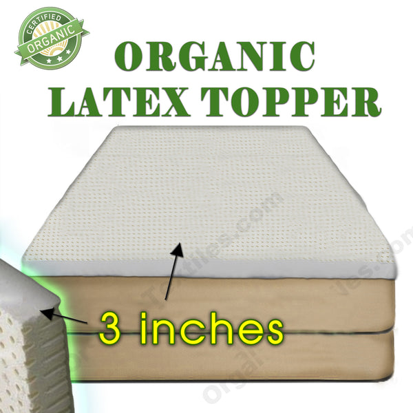 "3"" Organic Latex Mattress Topper"