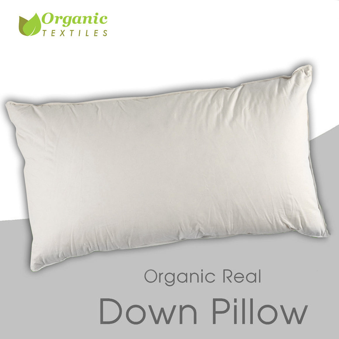 Real Down Pillow in Organic Cotton Cover - MyOrganicSleep