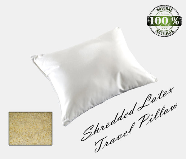 Natural Shredded Latex Travel Pillow - MyOrganicSleep