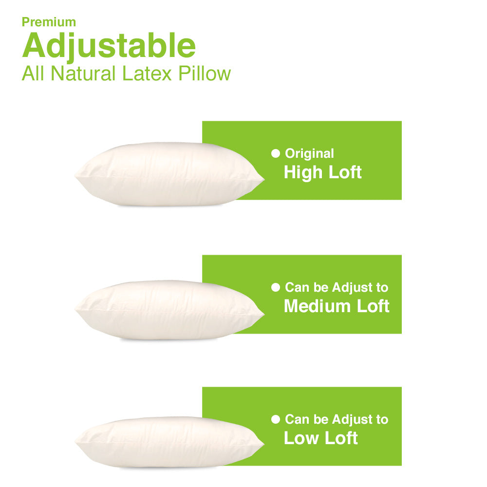 Adjustable Shredded Latex Pillow - MyOrganicSleep