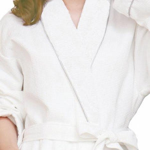 Organic Cotton Waffle Bathrobe - MyOrganicSleep