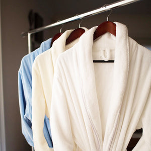 Washed Organic Cotton Terry Bathrobe - MyOrganicSleep