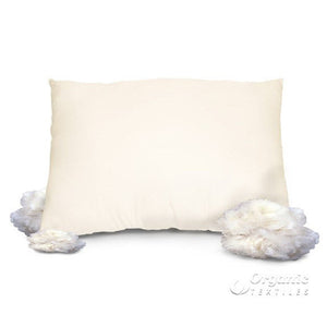 Natural Wool in Organic Cotton Pillow - MyOrganicSleep