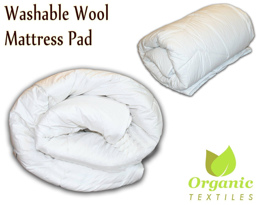 Washed Premium Wool Mattress Pad - MyOrganicSleep