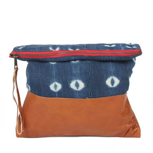 Indigo Large Clutch