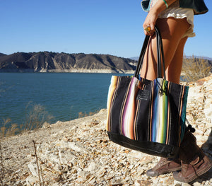 Rio Grande Weekender in Black Leather