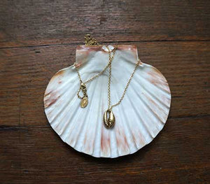 Small Vaalbara Cowrie Shell Charm Necklace