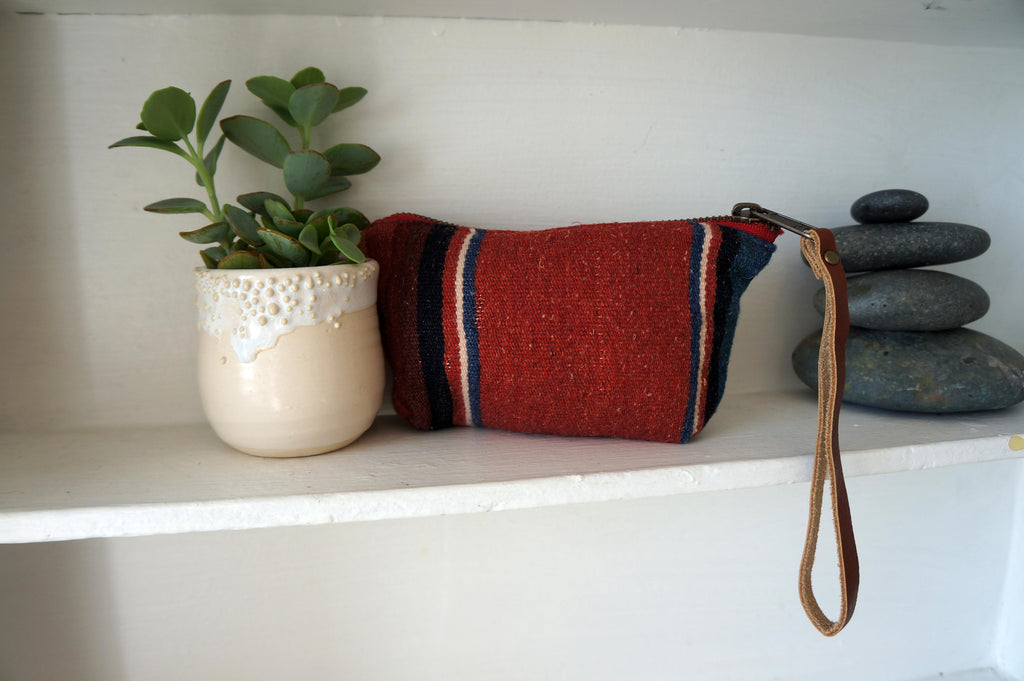 Chloe Pouch in Serape Red