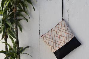 Sunrise Large Clutch in Black Leather