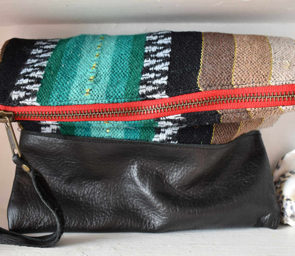 Zaragosa Clutch in Black Leather