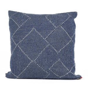 Blue Kantha Pillow Case 18x18