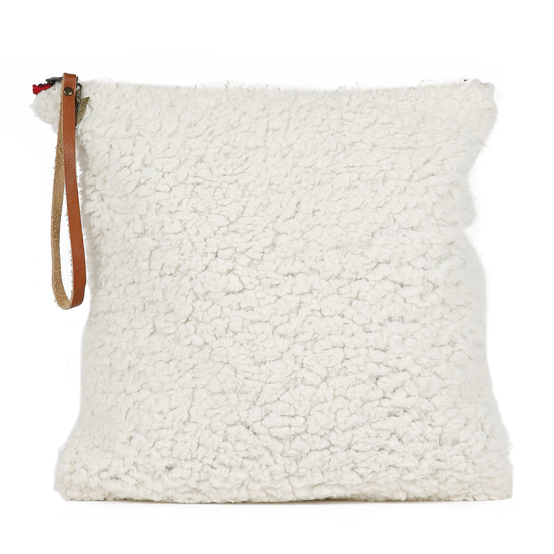 Sherpa Cheeky White Clutch