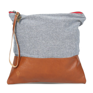 Chambray Large Clutch