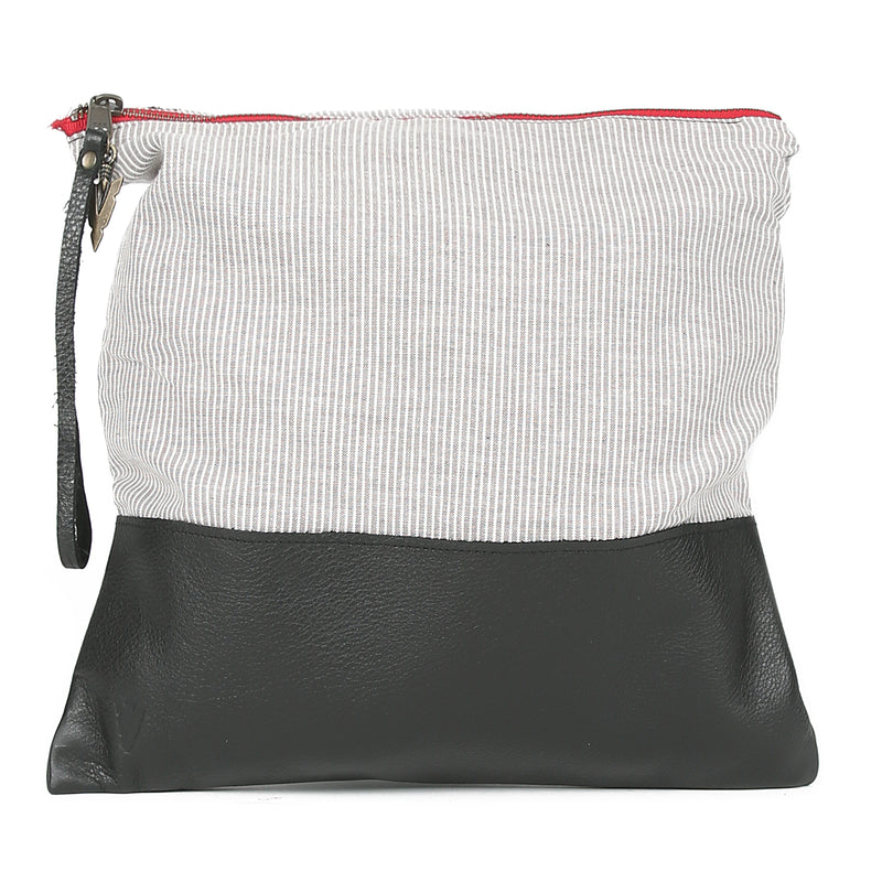Kelsey Large Clutch in Black Leather