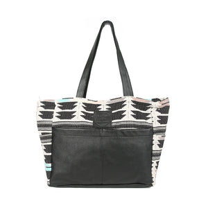 LA Diaper Bag in Black Leather