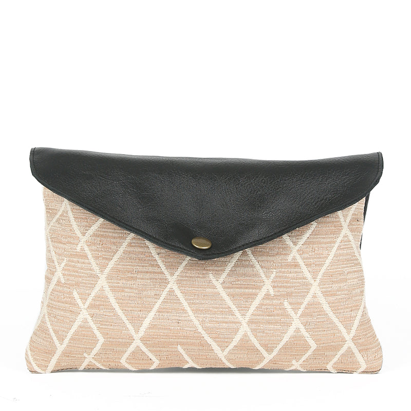 Sunset Mini Envelope Clutch in Black Leather