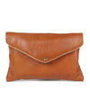 Mini Envelope Clutch in Brown Leather