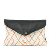 Sunrise Mini Envelope Clutch in Black Leather