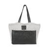 Kelsey Diaper Bag in Black Leather