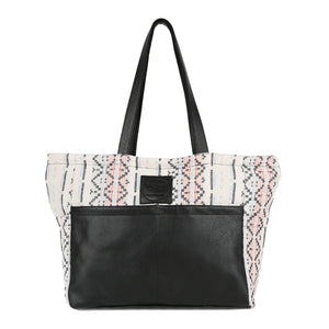 Kiki Diaper Bag in Black Leather