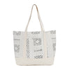 Beach Tote in White Mudcloth