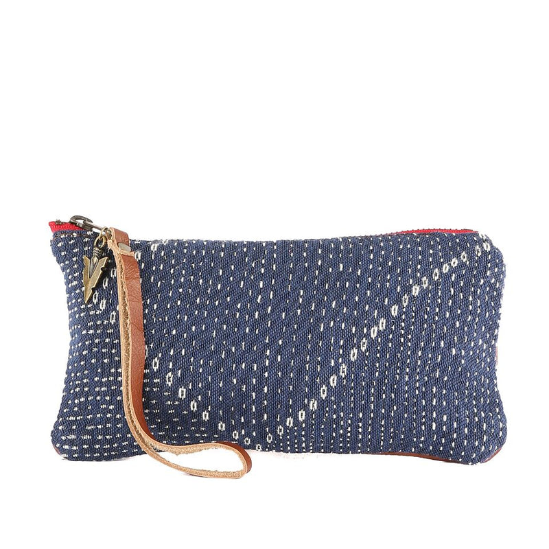 Blue Kantha Clara Clutch