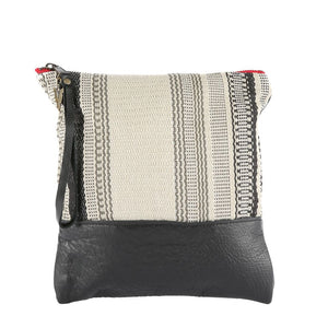 Nantucket Clutch in Black Leather