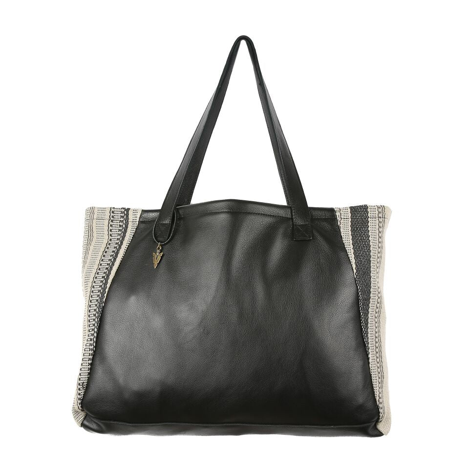Nantucket Tosh Tote in Black Leather