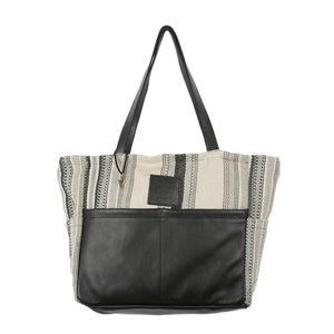 Nantucket Diaper Bag In Black Leather