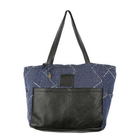 Incense Diaper Bag In Black Leather