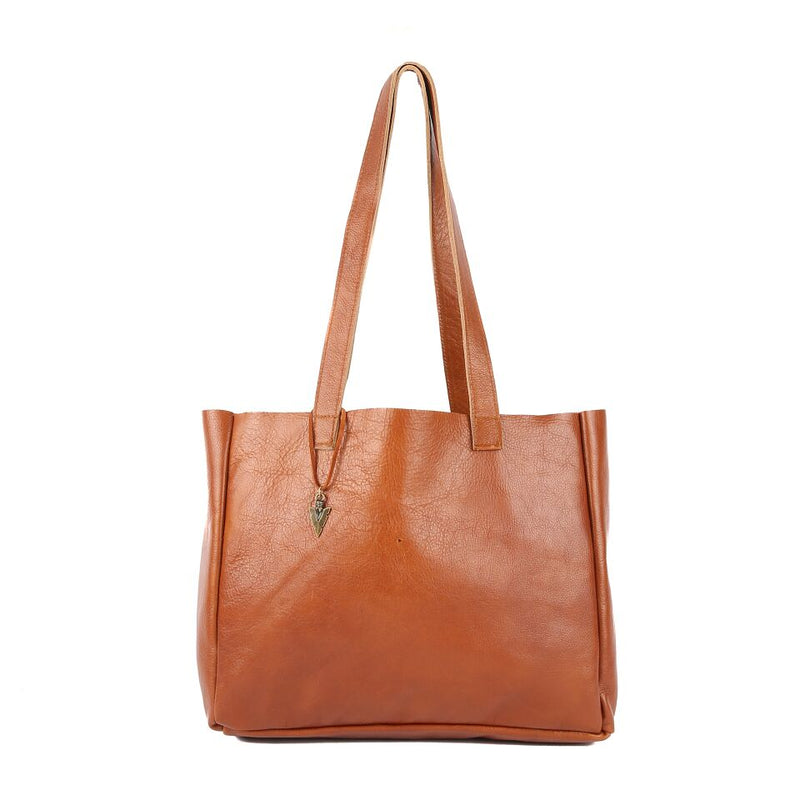 Brown Leather Ellie Tote