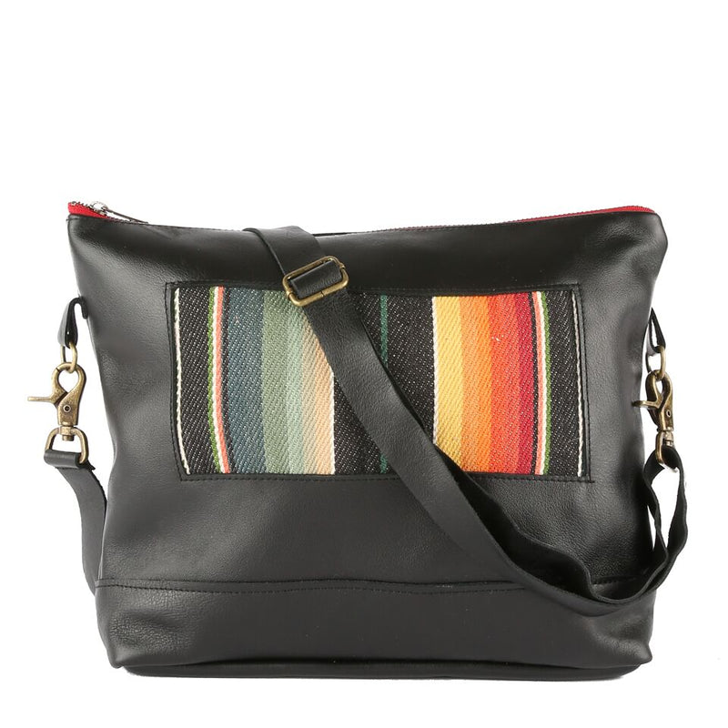 Santa Fe Gemma Messenger in Black Leather