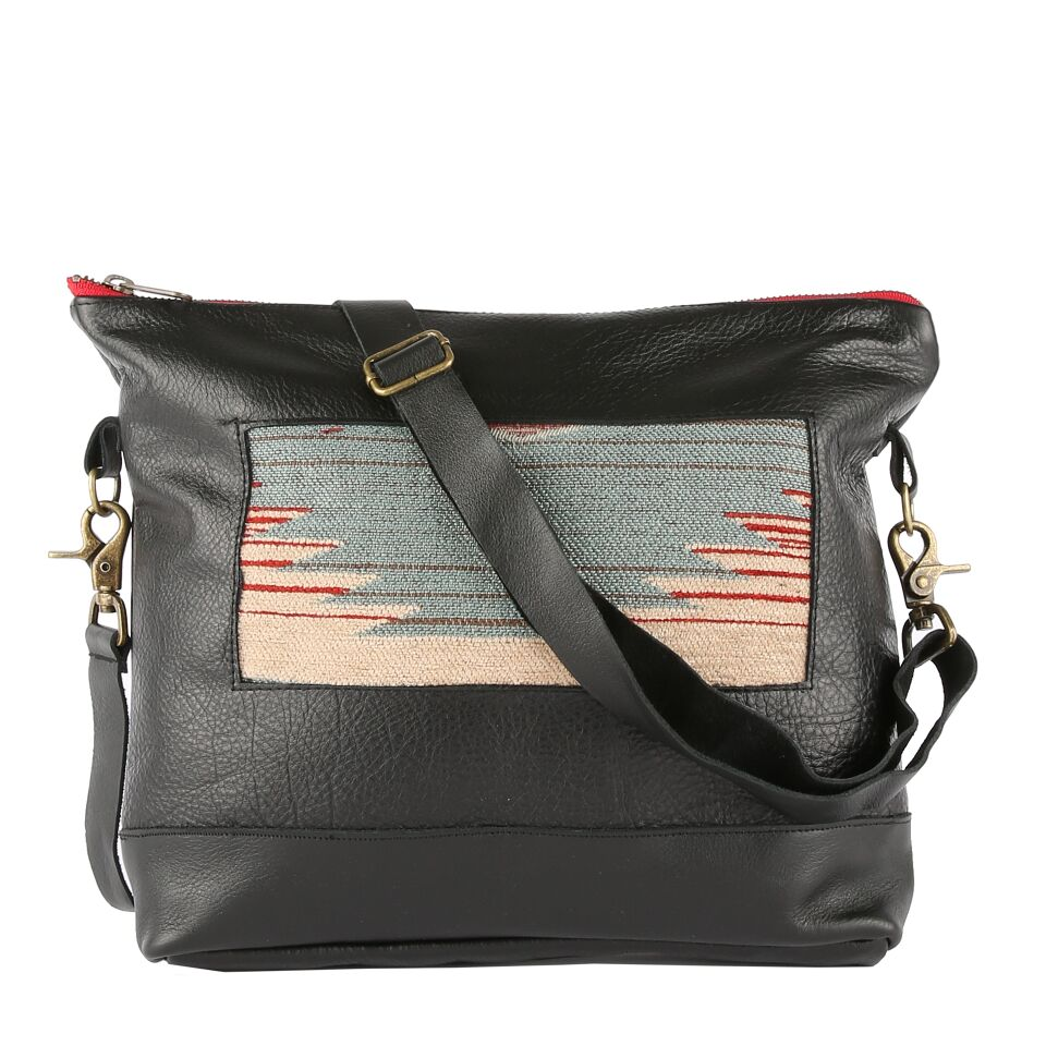 Katama Gemma Messenger in Black Leather