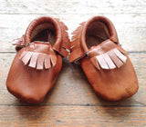 Baby Moccasins Brown Leather