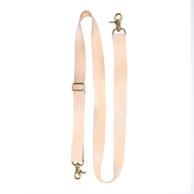 Adjustable Messenger Strap Rose Leather