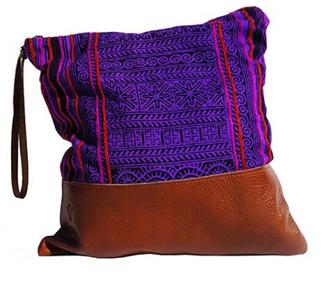 Patong Purple Large Clutch