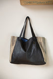 Blue Katama Tosh Tote in Black Leather