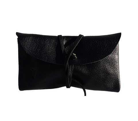Fold Wallet in Black Leather
