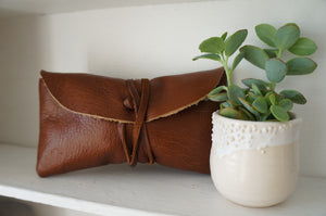 Fold Wallet in Brown Leather