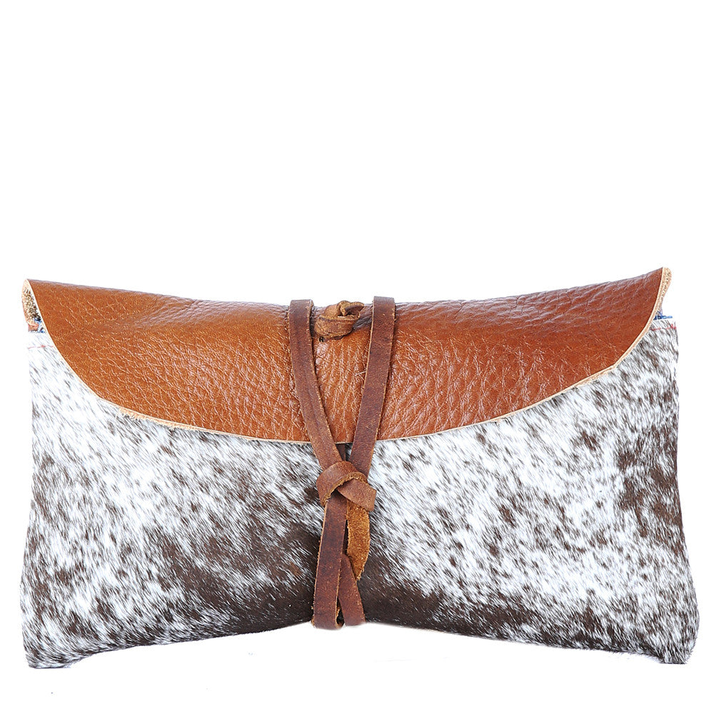 Fur Wallet in Brown Leather