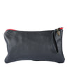 Katama Long Clutch in Black Leather