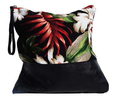 Aloha Large in Black Leather
