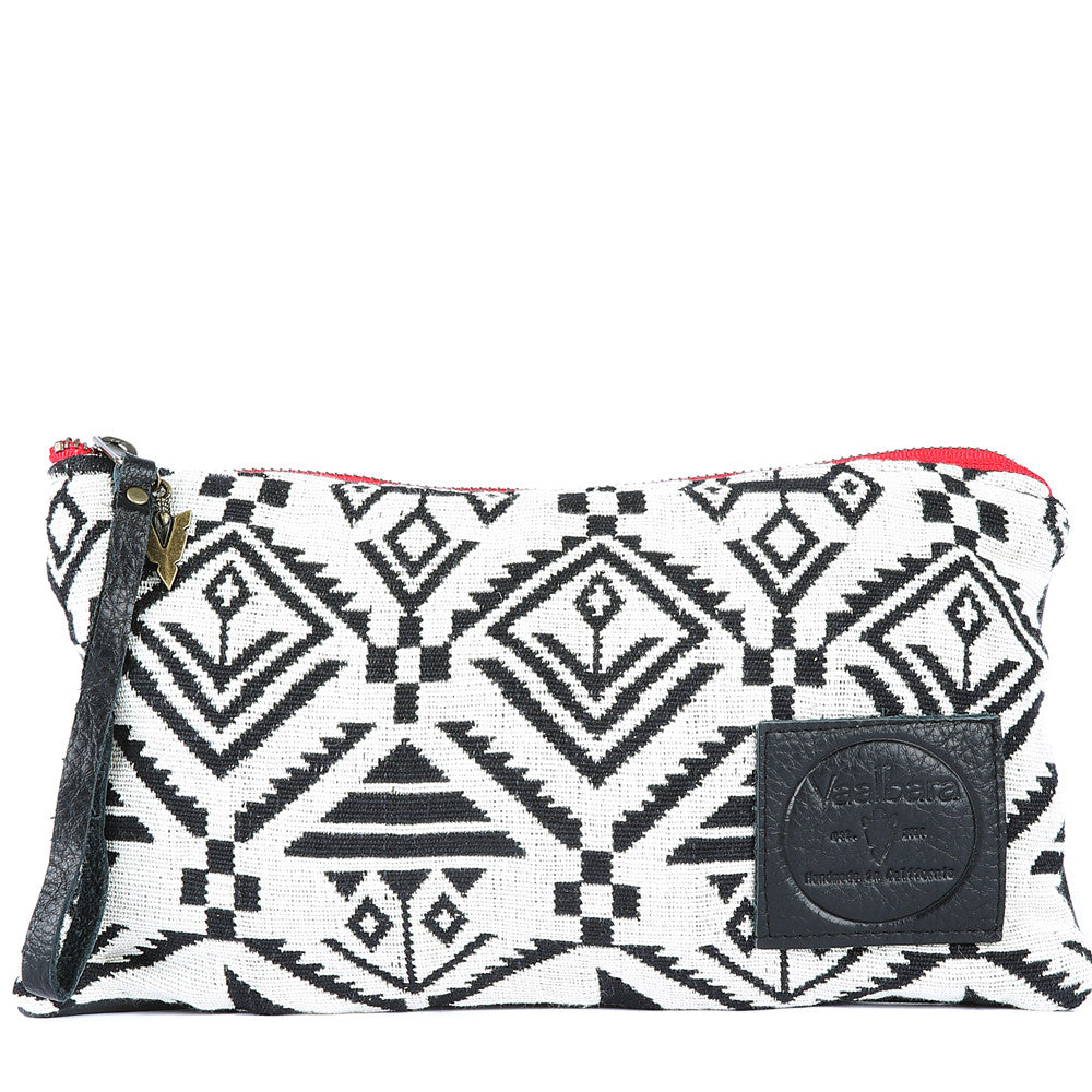 Kasbah Nash Clutch in Black Leather