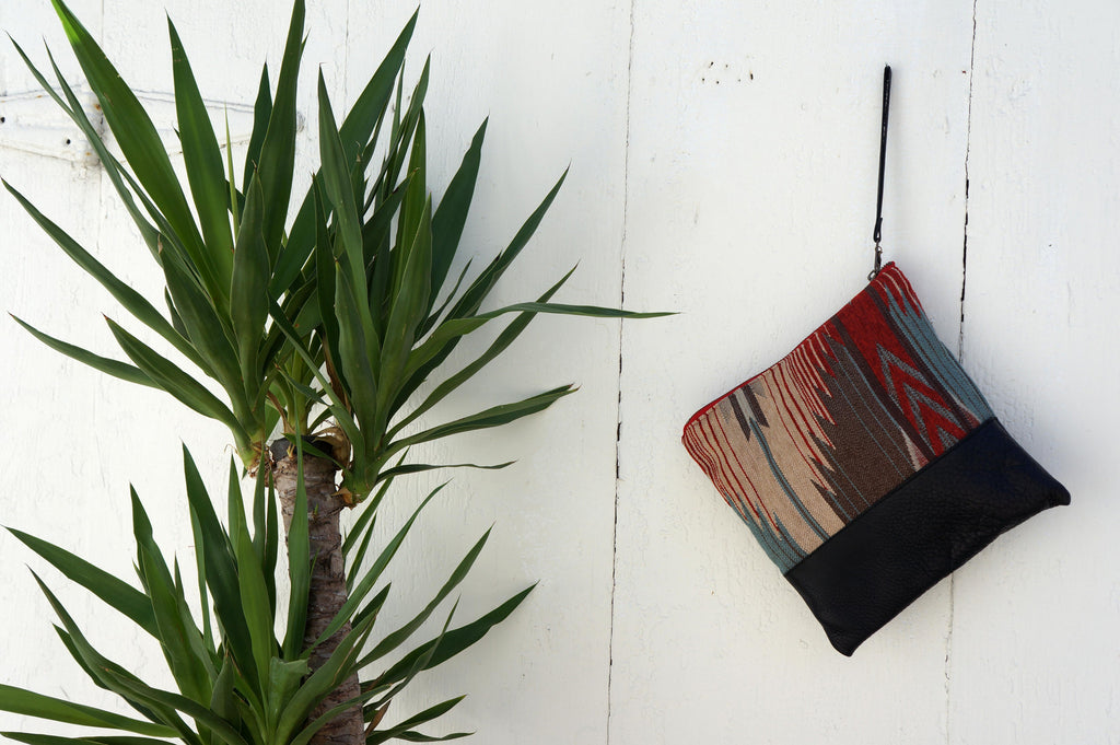 Katama Clutch in Black Leather